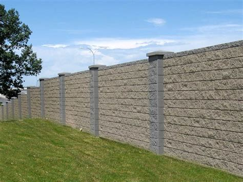 split face concrete block wall fenceing and gates block