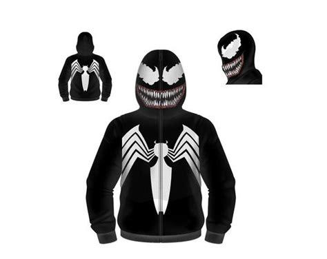 Hoodie Ziipper Venom Cloth venom zip up fleece hoodie printed by mad engine hoodies venom and marvel