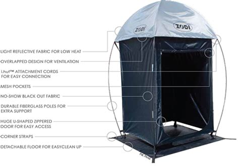 Zodi Shower Enclosure by I Hut Large Shower And Privacy Tent Zodi
