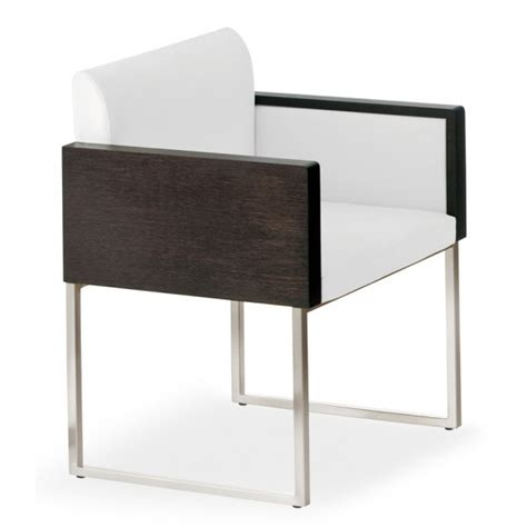 Black White Armchair Pedrali Collection Box White And Black Armchair 740