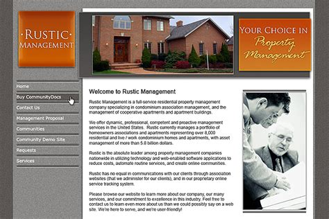 Community Website Design Sles Athomenet Com Condo Website Templates