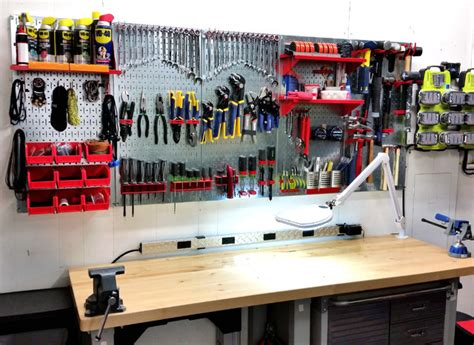 Craftsman Garage Storage Ideas Garage Pegboard Tool Organization With Wall