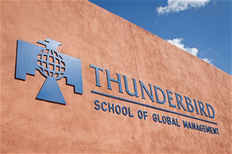 Arizona State Mba Accreditation by Thunderbird School Of Management Logo Wall