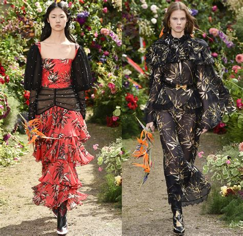 In Runway Looks Frillr Its The Frills That Count by Rodarte 2018 Summer Womens Catwalk Looks Denim