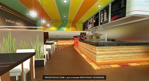 fast food restaurant layout modern falafel fast food restaurant design projects