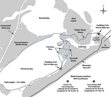 texas kayak fishing maps tpwd bay paddling trail texas paddling trails