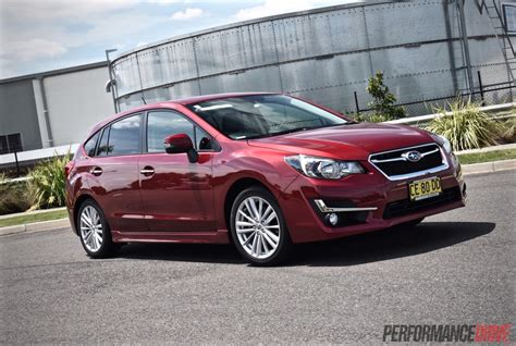 red subaru 2015 subaru impreza 2 0i s review video performancedrive