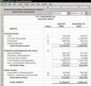 main components of balance sheets