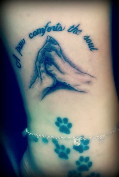 dog paw tattoos paw piercing