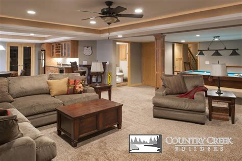 basement finishing country creek builders lakeville mn