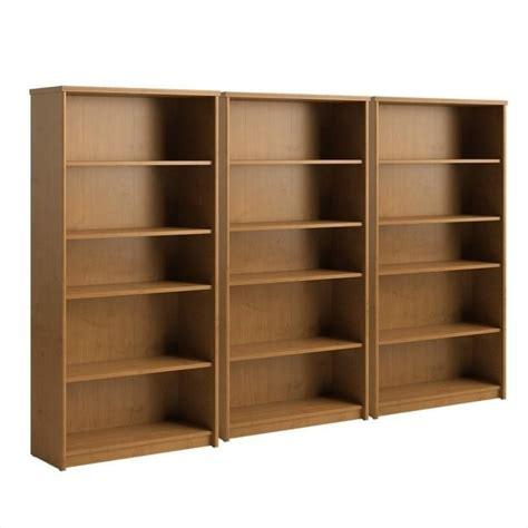 bush envoy 5 shelf wall bookcase in cherry