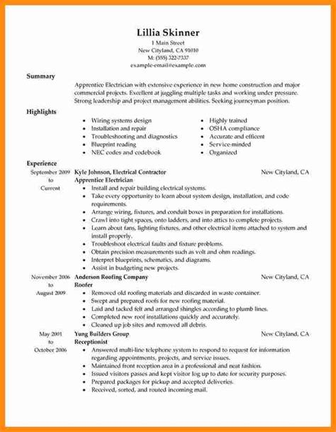 construction description template 8 apprentice description template plan template