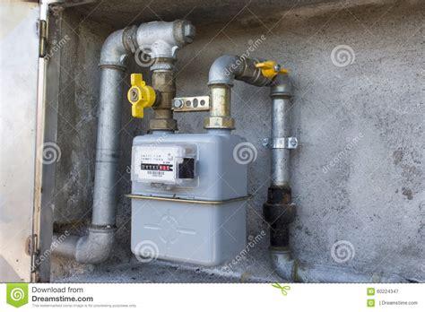 contatore gas in casa contatore gas metano immagine stock immagine