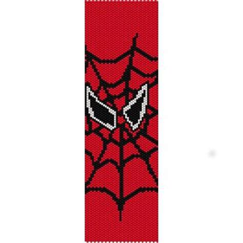spiderman loom pattern spiderman simple loom beading pattern for cuff bracelet