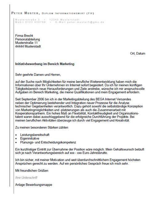 Initiativbewerbung Anschreiben Marketing Bewerbung Marketing Assistent In Ungek 252 Ndigt Berufserfahrung Sofort