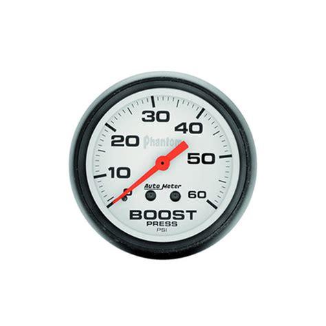 autometer phantom boost gauge   hg psi
