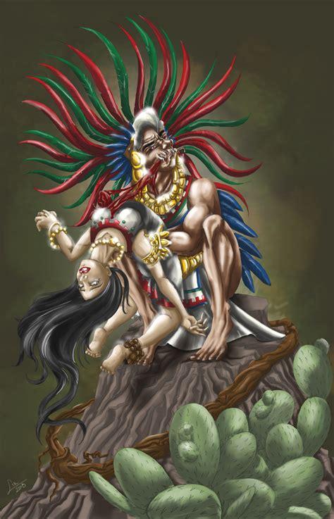imagenes de aztecas chingones demonio azteca by lirbalam on deviantart