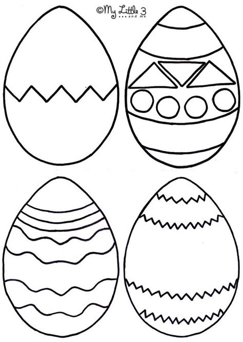 Easter Egg Cut Out Az Coloring Pages Coloring Pages Cutouts