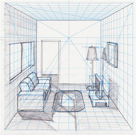 Room Perspective Drawing by Basic