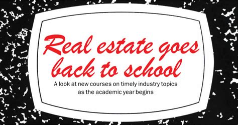 Real Estate Mba Programs Nyc by Nyu Schack Nyc Real Estate School