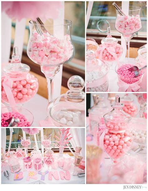 Girly Baby Shower Theme Ideas by Pink White Baby Shower Baby Bar Ideas