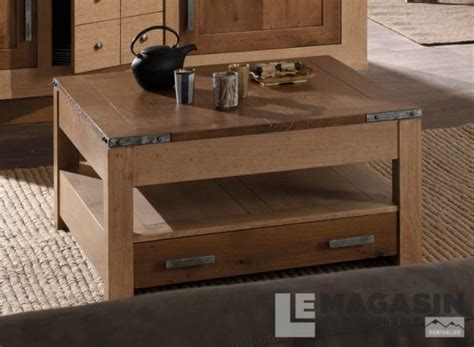 Table Basse Chene Massif 211 by Table Basse Carr 233 E Ch 234 Ne Massif Havane Le Magasin Du Pin