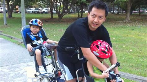 bicycle baby seat front singapore the 2 child brompton east coast park