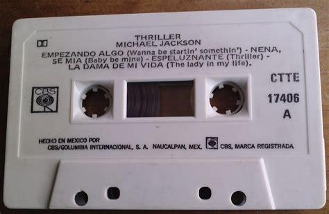 michael jackson thriller cassette michael jackson thriller cassette mexicano cbs 1982 bvf