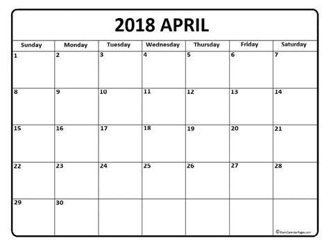 Kalender April 2018 April 2018 Calendar April 2018 Calendar Printable