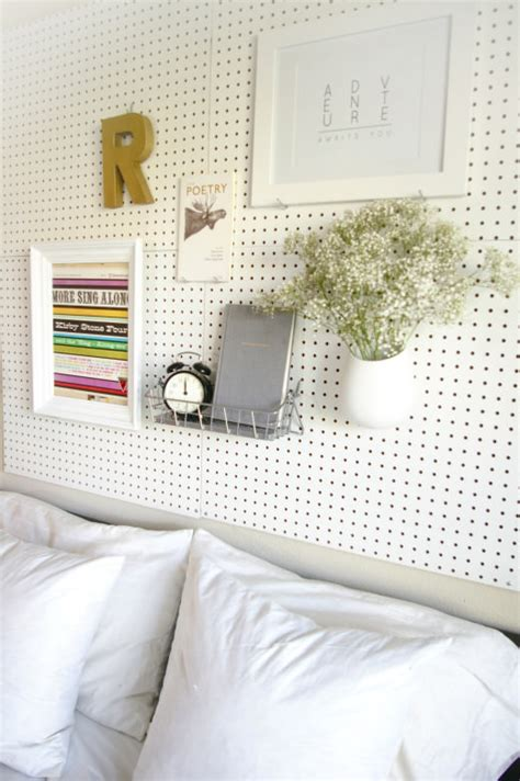 pegboard headboard pretty pegboard storage decorating your small space