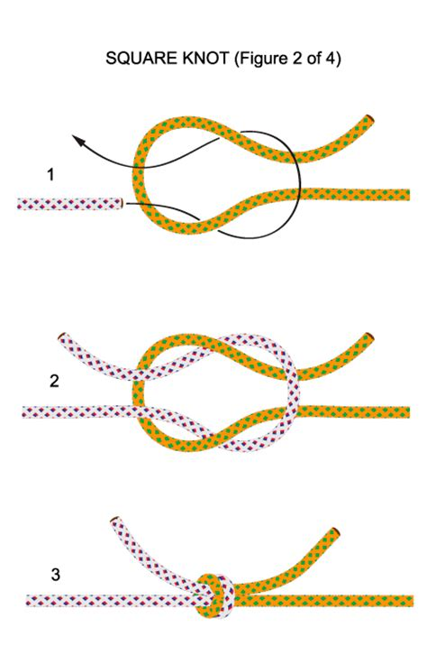 How To Tie A Square Knot Step By Step - knots emsdale agricultural society