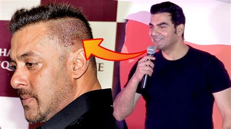 srk hair transplant arbaaz khan comment on salman khan s hair fall problem