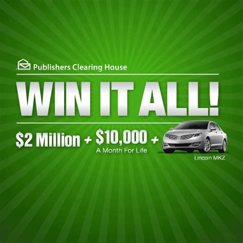 A Sweepstakes - pch win it all sweepstakes 10000 a month for life caroldoey