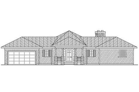 House Plans Front View by Craftsman House Plans Vista 10 154 Associated Designs