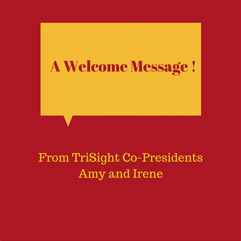 welcome message trisight communications