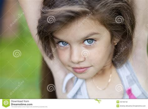 little girl with beautiful hair stock photography image 33749742