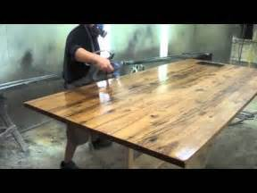 reclaimed wood counter top youtube