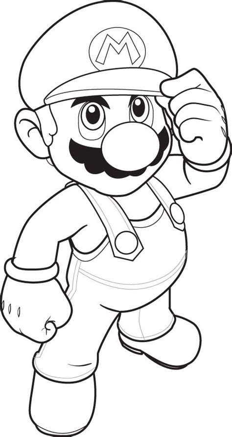 Supermario Coloring Pages mario coloring pages black and white mario