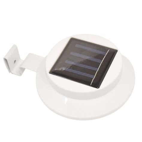 solar powered led outdoor lights for gutter solar powered 3 led gutter spot light outdoor garden fence