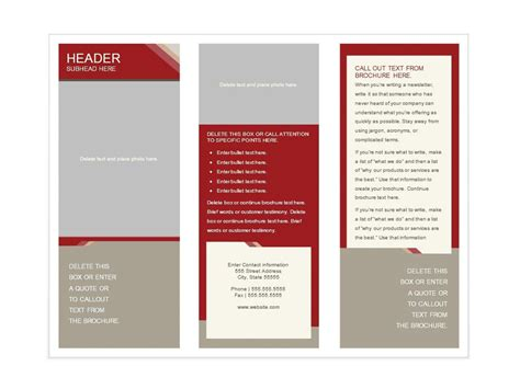 brochure layout in word 31 free brochure templates ms word and pdf free