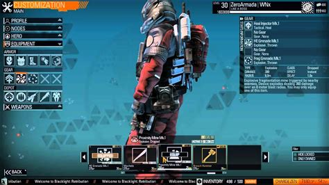 Blacklight Retribution blacklight retribution armor and gear loadouts