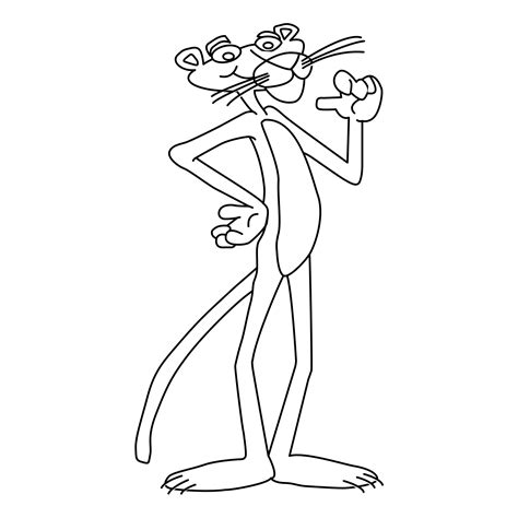 Free Printable Pink Panther Coloring Pages For Kids Pink Panther Coloring Pages
