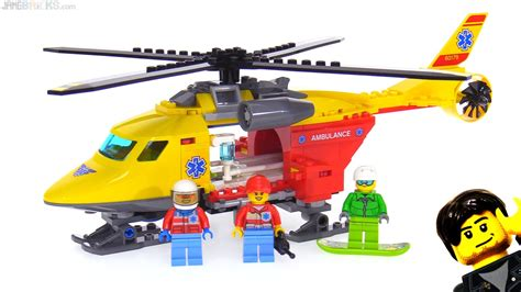 Lego City 60179 Ambulance Helicopter jangbricks lego reviews mocs