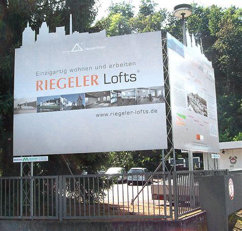 Bauschild Werbeanlage by Bauschilder M 228 Der Werbetechnik Gmbh