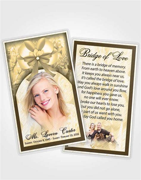 free memorial card templates for mac prayer card template autumn petals in the wind