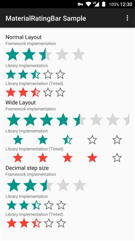 sistema rating crear un sistema de rating o rating bar para android