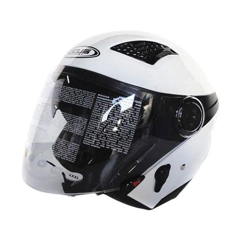Zeus Helm Zs 610 Dsil jual zeus zs 610 helm half putih harga
