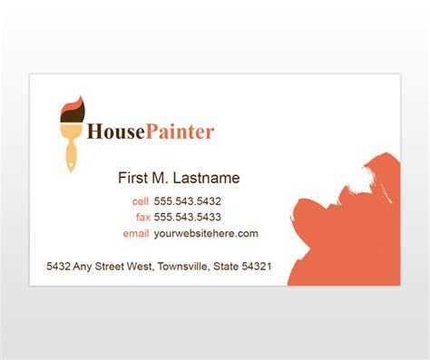 painting business cards templates house painting visiting card defendbigbird