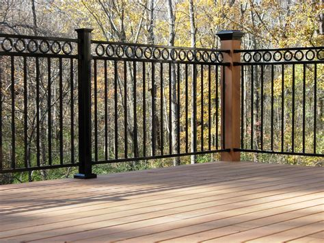 Iron Porch Railing Pressure Treated Deck With Fortress Iron Railing Shelton
