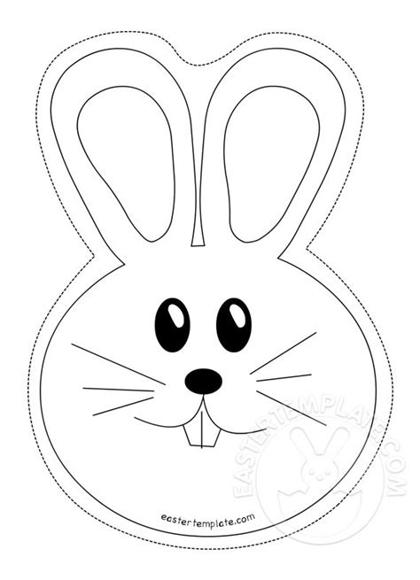 the gallery for gt easter bunny face template